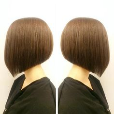 Side view of cute short angled bob haircut                                                                                                                                                                                 More
