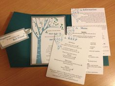 Very cute DIY wedding invites
