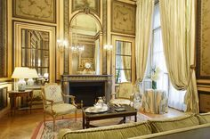 Luxury Hotels at The Leading Hotels of the World, Ltd. Your source for small luxury hotels, luxury vacations and travels, resort hotels, and luxury vacations in Hôtel De Crillon. Lux Hotels, Small Luxury Hotels, Classic Living Room, Classic House, Beautiful Hotels, Beautiful Interiors, French Interiors, Paris France, France 5