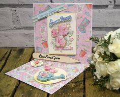 In June we gave you the chance to win the brand new Dovecraft Forget Me Not papercraft collection, see the winners here… Floral Wellies, Crafts To Do, Paper Crafts, Forget Me Not, Scrapbook Paper, Scrapbooking, Giveaway, Birthday Cards, Decorative Boxes