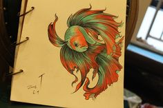 Gorgeous drawing! Betta fish