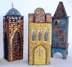Lijlija Armstrong – Moscow.  Embroidered textile buildings