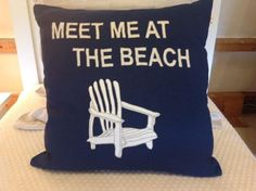 Meet Me at the Beach pillow, found at Pallian and Co. Beach Pillow, Maine Cottage, Wells, Meet, Throw Pillows, Decor, Toss Pillows, Decoration, Decorative Pillows