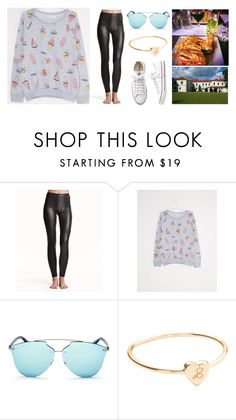 """""""Без названия #1542"""" by losageles ❤ liked on Polyvore featuring H&M, Converse, Christian Dior and Merci Maman"""