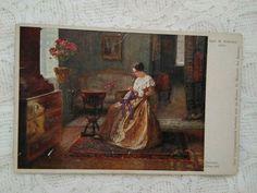 Art Nouveau, Art Deco, Photo Postcards, Romantic Couples, Antique Art, Christmas Art, Hand Coloring, Victorian, Antiques