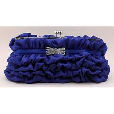 Navy Blue Soft Silk Wedding Evening Party Bridesmaid Bag Purse Clutches  SKU-1110463