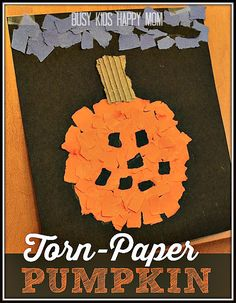Halloween Pumpkin Craft. They look fabulous in the classroom!
