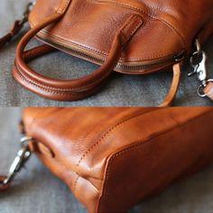 Handmade Genuine Leather Shell Style Handbag Shoulder Crossbody Bag Pu – Annie Jewel
