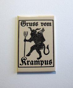 Greetings From Krampus woodcut - Arkham Bazaar Yule Goat, Nos4a2, Tam O' Shanter, Maleficarum, Vintage Christmas, Dark Christmas, Christmas Time, Xmas, Father Christmas