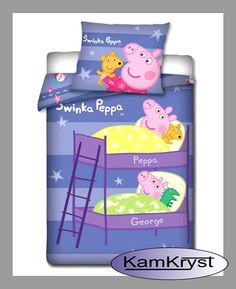 Peppa Pig Bedding in rozmiarze160 x 200 cm - children's bedding with duvets store KamKryst | Pościel Świnka Peppa w rozmiarze160 x 200 cm - pościel dla dzieci w sklepie z pościelą KamKryst #peppa #peppa_pig #peppa_pig_bedding