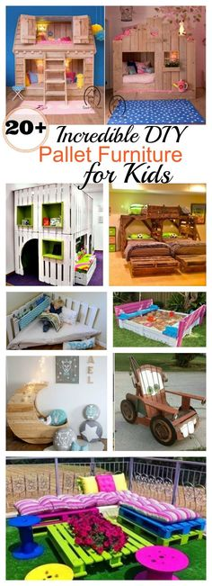 20+ Incredible DIY Pallet Furniture for Kids