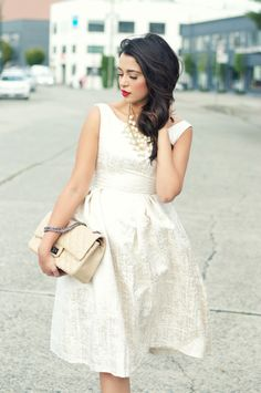 Gumboot Glam - Vancouver Based Style and Beauty Blog by Ally Soeker : Ivory Shimmer
