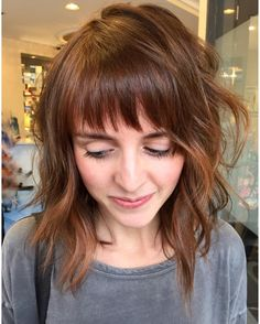 Medium Length Hairstyles With Bangs Endearing 36 Ideas For Medium Length Hairstyles With Bangs  Hairstyles
