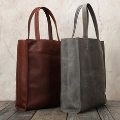Handmade Full Grain Leather Tote with Removable Inner Bag Leather Shoulder Bag Leather Tote Handbag Shopper Bag 0669 - LISABAG Leather Hobo Bags, Leather Diaper Bags, Leather Shoulder Bag, Full Grain Leather Wallet, Iphone Wallet Case, Vintage Leather, Shopper Bag, Purses, Women's Fashion