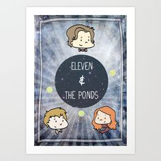 Doctor Who: Eleven and the Ponds Art Print by Neobie Gonzalez - $17.00