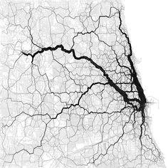Tweet Map - nprfr a map of people in chicago going home via their geotagged tweets (via gapersblock)