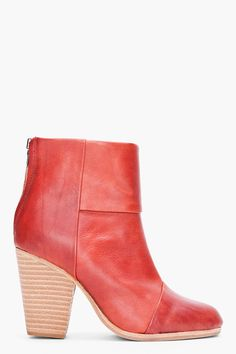 Rag And Bone Red Classic Newbury Booties