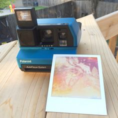 Your place to buy and sell all things handmade Polaroid Cameras, Vintage Polaroid, My Etsy Shop, Handmade, Blue, Hand Made, Polaroid Camera, Arm Work
