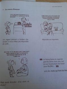 """Les mots d'amour : regarder, répondre, écouter. Source : """"J'ai tout essayé"""" d'Isabelle Filliozat"""