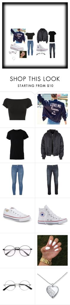 """""""Couple Goals Matching Set"""" by jayjay200500602 on Polyvore featuring Helmut Lang, Numero00, Juun.j, Dorothy Perkins, Armani Jeans, Converse and EyeBuyDirect.com"""