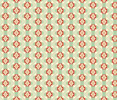 seafoam and red button fabric by holli_zollinger on Spoonflower - custom fabric