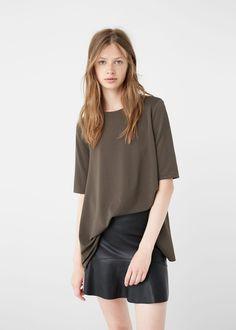 Lejąca koszulka | MANGO