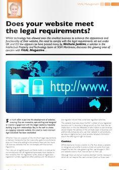 Client: SGH Martineau Outlet: VitAL Magazine Topic: Website Legal (Nichola Jenkins - IP) - Part 1 -