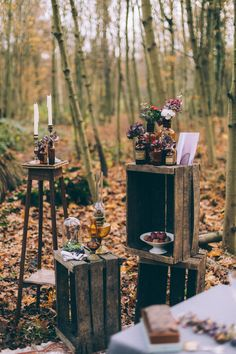 Wooden Palette Wedding Decor - Vintage Inspired Wedding Inspiration From A French Forest With Images by Juli Etta Photography and Styling by Olivia Pellerin