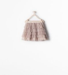 Image 1 of SKIRT WITH TULLE FRILLS from Zara