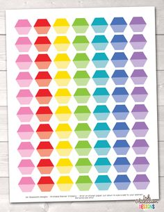 Ombre Hexagons Printable Planner Stickers – Erin Bradley/Ink Obsession Designs