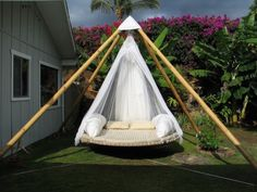 Outdoor Bed, Hammock Bed | The Floating Bed Co... again you have NO IDEA how bad I want this... again, bajillion dollars