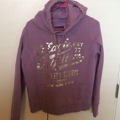 American Eagle women's Hoodie size medium American Eagle light purple/gold hoodie size medium American Eagle Outfitters Tops Sweatshirts & Hoodies
