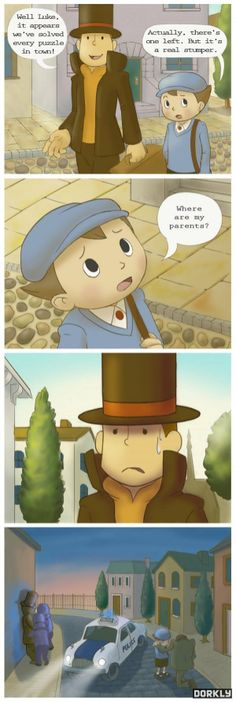 The True professor Layton Story , Funny lol