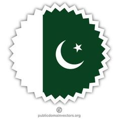 Vector image of a sticker with national flag of Pakistan. Pakistan Flag Hd, Free Vector Images, Vector Free, Flag Vector, National Flag, Painting Tutorials, Public Domain, Pakistani, Vectors