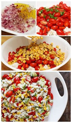 Pescatarians in your midst this season? Win them over with this Summer tomatoes, corn, crab and avocado Salad! Mmm #paleo #avocado ideas and recipes!!