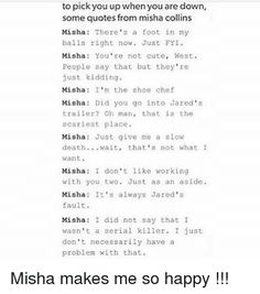 misha collins quotes - Google Search