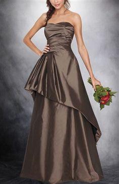 Sweetheart A-line Peplum Floor-length Evening Dress.