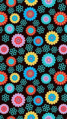 Colorful Wallpaper, Flower Wallpaper, Pattern Wallpaper, Wallpaper Backgrounds, Iphone Wallpaper, Print Wallpaper, Phone Backgrounds, Pretty Backgrounds, Colorful Backgrounds