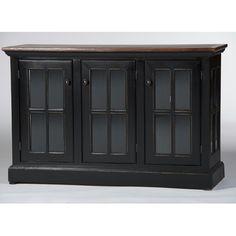 Eagle Furniture Manufacturing West Winds Credenza Top Finish: Caribbean Rum, Base Finish: Smokey Blue