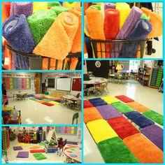 A Kindergarten Smorgasboard Classroom Video: Introducing Centers Kindergarten Classroom Setup, Kindergarten Smorgasboard, New Classroom, Classroom Design, Classroom Themes, Classroom Seats, Classroom Flexible Seating, Classroom Reading Nook, Classroom Carpets