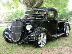 1936 Ford Half-Ton Custom Pick-Up - Barrett-Jackson Auction Company - World's Greatest Collector Car Auctions Old Pickup Trucks, Hot Rod Trucks, Cool Trucks, Cool Cars, Rc Trucks, Diesel Trucks, Dually Trucks, Lifted Trucks, Jeep Pickup