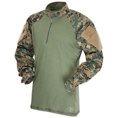 Tactical Clothing 177896: Tru Spec 2569004 Mens Digital Polyester Long Sleeve Combat Shirt Medium BUY IT NOW ONLY: $49.3