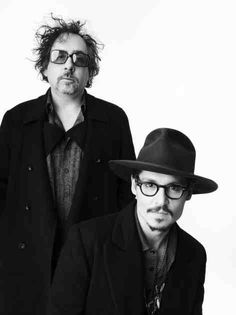 Johnny Depp with Tim Burton for New York magazine, December Johnny Depp Images, Johnny Depp Fans, Here's Johnny, Johnny Depp Wallpaper, Johnny Depp Characters, Tim Burton Johnny Depp, Beautiful Men, Beautiful People, Loving Two People