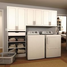 Bring a marvelous and tremendous look to your laundry room by selecting this Modifi Horizon White Wide Tower Storage Laundry Cabinets. Laundry Room Shelves, Laundry Room Cabinets, Laundry Closet, Laundry Storage, Laundry Room Organization, Laundry Room Design, Laundry Rooms, Storage Cabinets, Storage Organization