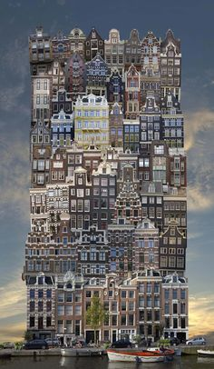 jean-françois rauzier forms architectural babels from stacked urban structures Cultural Architecture, Architecture Résidentielle, Romanesque Architecture, Education Architecture, Classic Architecture, Futuristic Architecture, Athens Acropolis, Parthenon, Photomontage