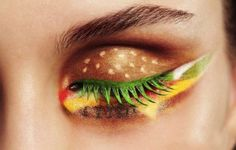 Wow amazing, you can even see the cheese. Hamburger Eye Shadow.