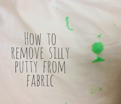 removing silly putty from fabric things i love pinterest silly
