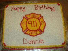 Firemen's birthday cake