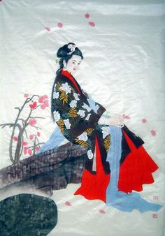 Chinese Painting: Beautiful Lady - Chinese Painting CNAG241691 - Artisoo.com