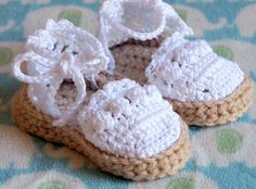 Crochet Baby Espadrilles Sandals by All4Pears on Etsy, $20.00